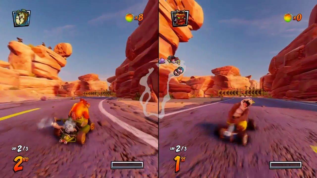 Gry na dwóch PS4 - CRASH